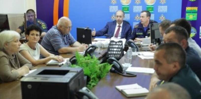 С 25 июля силы и средства областной подсистемы РСЧС приведены в режим повышенной готовности