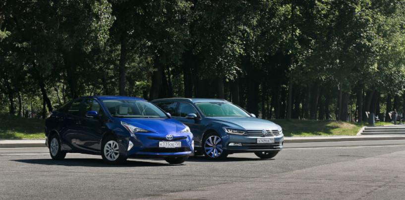 Школа экономии: Toyota Prius против дизельного VW Passat