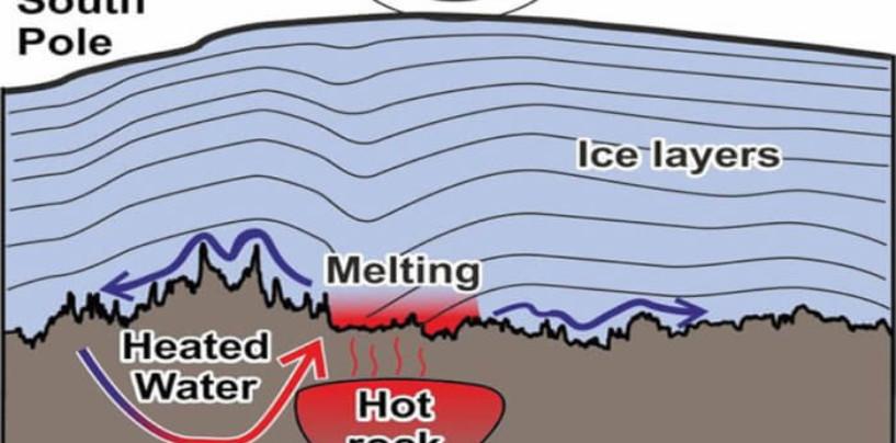 Под Антарктидой обнаружили радиоактивный источник тепла